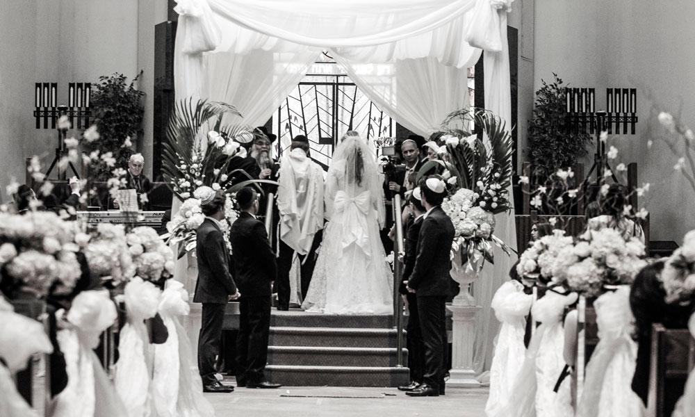Jewish Wedding black and white