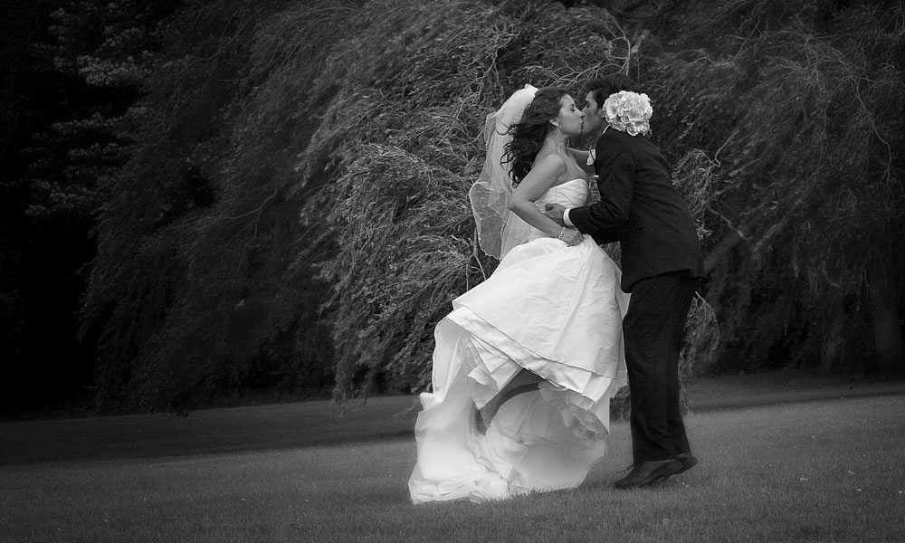 Nature wedding black and white