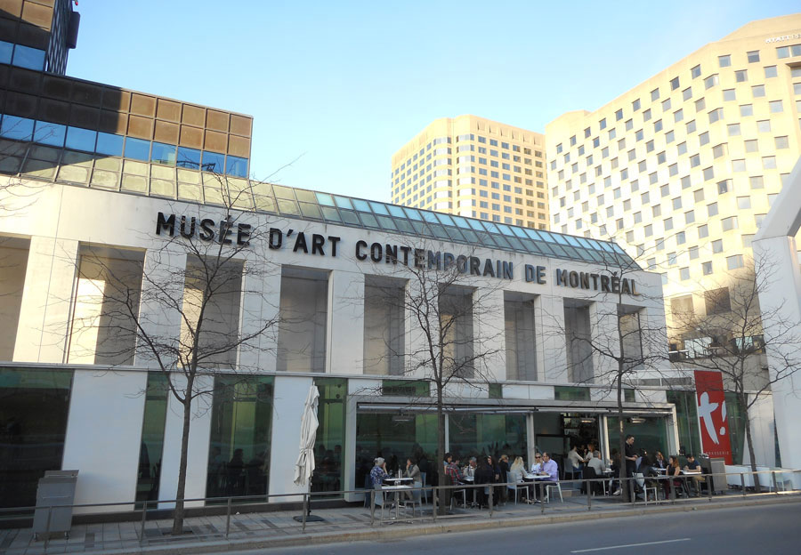 Garden of the Montreal-Museum of Contemporary Art